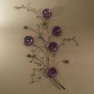 Wall decoration, purple flowers